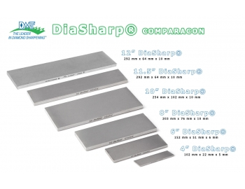 """D8E-8""""x3"""" Piedra de afilar grano 1200 diamante DMT DiaSharp D8E-6."""