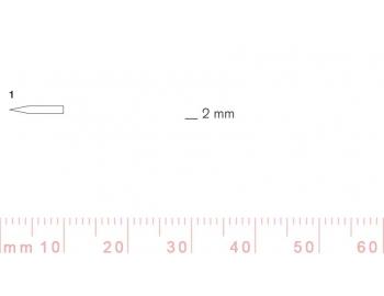 1/2-1/2, Pfeil, Gubia Recta corte 1, 2mm, doble bisel, plana-1.