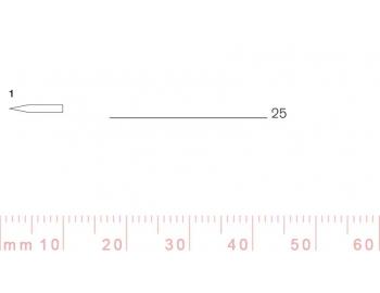 1/25-1/25, Pfeil, Gubia Recta corte 1, 25mm, doble bisel, plana-1.