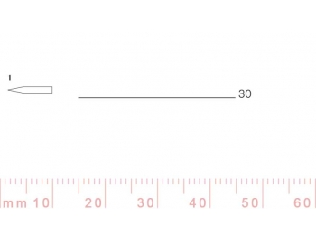 1/30-1/30, Pfeil, Gubia Recta corte 1, 30mm, doble bisel, plana-1.