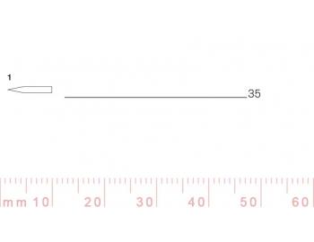 1/35-1/35, Pfeil, Gubia Recta corte 1, 35mm, doble bisel, plana-1.