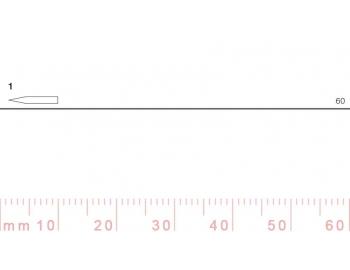 1/60-1/60, Pfeil, Gubia Recta corte 1, 60mm, doble bisel, plana-1.