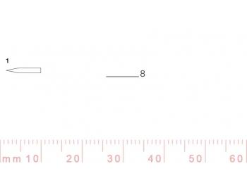 1/8-1/8, Pfeil, Gubia Recta corte 1, 8mm, doble bisel, plana-1.
