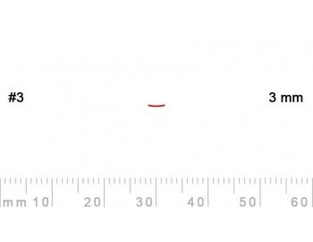 3/3-3/3, Pfeil, Gubia Recta corte 3, 3mm, semiplana-1.