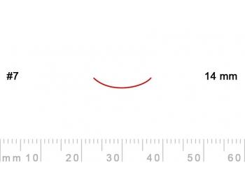 7/14-7/14, Pfeil, Gubia Recta corte 7, 14mm, curvada-1.