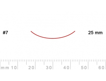 7/25-7/25, Pfeil, Gubia Recta corte 7, 25mm, curvada-1.