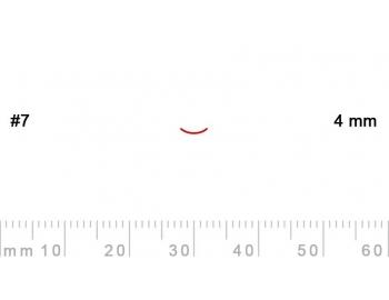7/4-7/4, Pfeil, Gubia Recta corte 7, 4mm, curvada-1.