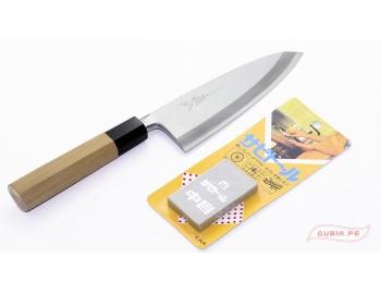 GUB0028-Borrador mediano para limpiar el óxido de cuchillos con alto carbono Sushi GUB0028-1.