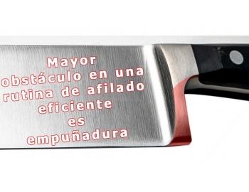 Empuñadura-Servicio de remover 5mm empuñadura de un cuchillo de cocina en LIMA-1.