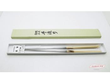 GUB0037-Palitos servir sushi Moribashi Chopsticks metal 21cm GUB0037-2.