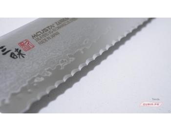 HFR-8014D-Cuchillo Bread Knife 23 cm acero VG10 Classic Pro Damascus Zanmai HFR-8014D-1.