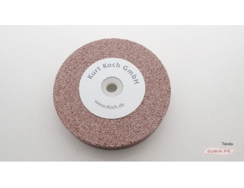 HT50231-Disco de esmeril 125x20mm grano 220 afilar-reparar gubias sin destemplar KOCH  HT50231-1.