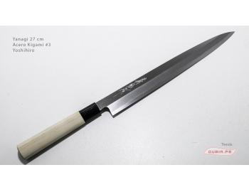 y27k3-Cuchillo Yanagi 27 cm acero Kigami #3 Yoshihiro y27k3-1.