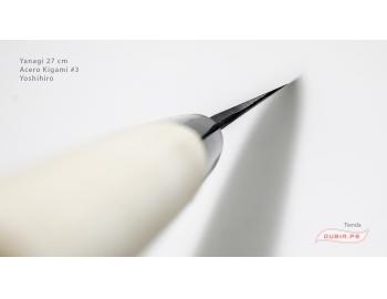 y27k3-Cuchillo Yanagi 27cm acero Kigami #3 Yoshihiro y27k3-5.