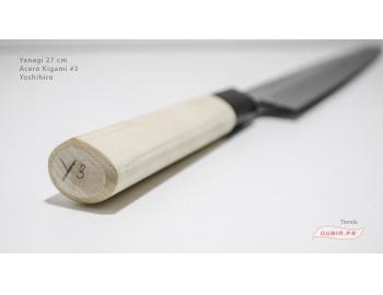 y27k3-Cuchillo Yanagi 27 cm acero Kigami #3 Yoshihiro y27k3-5.
