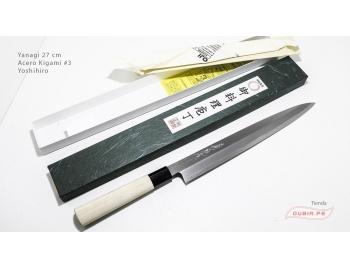 y27k3-Cuchillo Yanagi 27 cm acero Kigami #3 Yoshihiro y27k3-6.