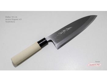 d18k3-Cuchillo Deba 18cm acero Kigami #3 Yoshihiro d18k3-1.
