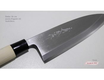 d18k3-Cuchillo Deba 18cm acero Kigami #3 Yoshihiro d18k3-2.