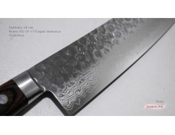 HAAs18-Cuchillo Santoku 18 cm acero VG-10+damasco Yoshihiro HAAs18-2.