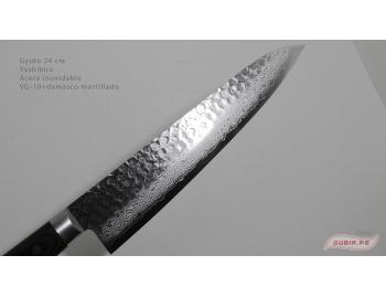 HAAg24-Cuchillo Gyuto 24cm acero VG-10+damasco Yoshihiro HAAg24-2.