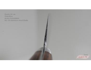 HAAg24-Cuchillo Gyuto 24cm acero VG-10+damasco Yoshihiro HAAg24-5.