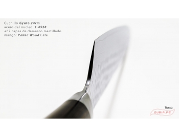 B1g24-Cuchillo Gyuto 24cm acero 1.4528+damasco Cafe B1g24-3.