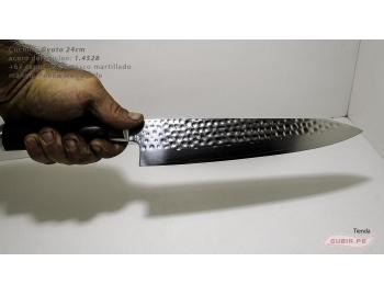 B1g24-Cuchillo Gyuto 24cm acero 1.4528+damasco Cafe B1g24-5.