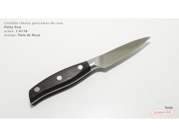 C1p9-Cuchillo Petty 9cm acero 1.4116 Palo de Rosa Clásico C1p9-1.