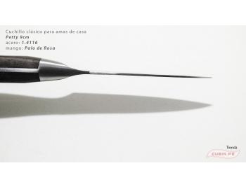 C1p9-Cuchillo Petty 9cm acero 1.4116 Palo de Rosa Clásico C1p9-4.