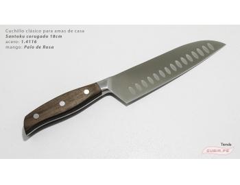 C1s18-Cuchillo Santoku 18cm  acero 1.4116 Palo de Rosa Clásico C1s18-1.