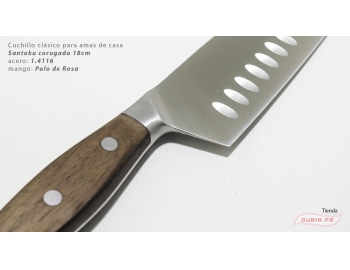 C1s18-Cuchillo Santoku 18cm  acero 1.4116 Palo de Rosa Clásico C1s18-2.