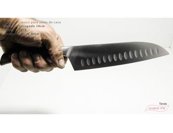 C1s18-Cuchillo Santoku 18cm  acero 1.4116 Palo de Rosa Clásico C1s18-6.
