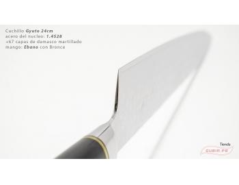 B1zEg24-Cuchillo Gyuto 24cm acero 1.4528+damasco Ebano+Bronce B1zEg24-4.