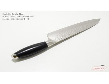 B12sG20-Cuchillo Gyuto 20cm acero 440c martillado B12sG20-3.