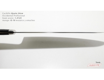 B9s-CS-24-Cuchillo Gyuto 24cm acero 440c Profesional Occidental B9s-CS-24-5.