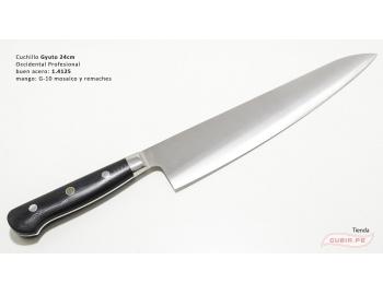 B9s-CS-24-Cuchillo chef 24cm clásico carnicero parrilla 440c acero B9s-CS-24-1.