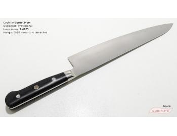 B9s-CS-24-Cuchillo chef 24cm clásico carnicero parrilla 440c acero B9s-CS-24-3.