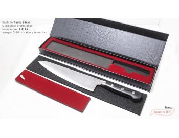 B9s-CS-24-Cuchillo chef 24cm clásico carnicero parrilla 440c acero B9s-CS-24-5.