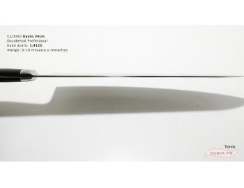 B9s-CS-24-Cuchillo chef 24cm clásico carnicero parrilla 440c acero B9s-CS-24-6.
