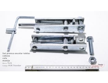 HUK Standard-Set prensa encolar tablas cabeza, cola y manija York HUK Standard-1.