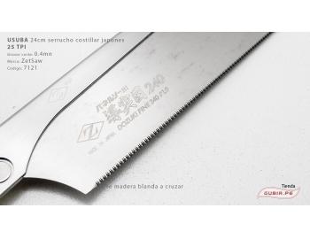 07121-Usuba 24cm madera blanda 25TPI corte a cruzar ZetSaw 07121-4.