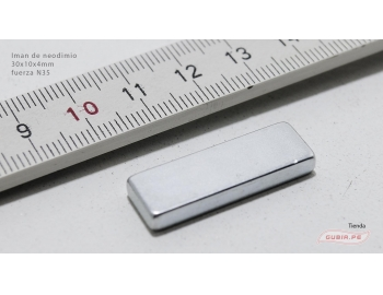 GUB0079-Iman de neodimio 30x10x4mm fuerza N35 GUB0079-1.