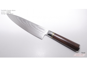 B1gd20-Cuchillo Gyuto 20cm acero 1.4528+damasco  B1gd20-1.