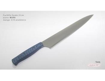 GUB0088-Cuchillo Gyuto 21 cm acero M390  negro y azul GUB0088-1.