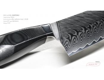 B32-RS-Cuchillo Santoku 18cm  acero 1.4528+damasco 67capas Feng 锋 B32-RS-2.