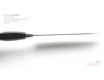 B32-RS-Cuchillo Santoku 18cm  acero 1.4528+damasco 67capas Feng 锋 B32-RS-5.