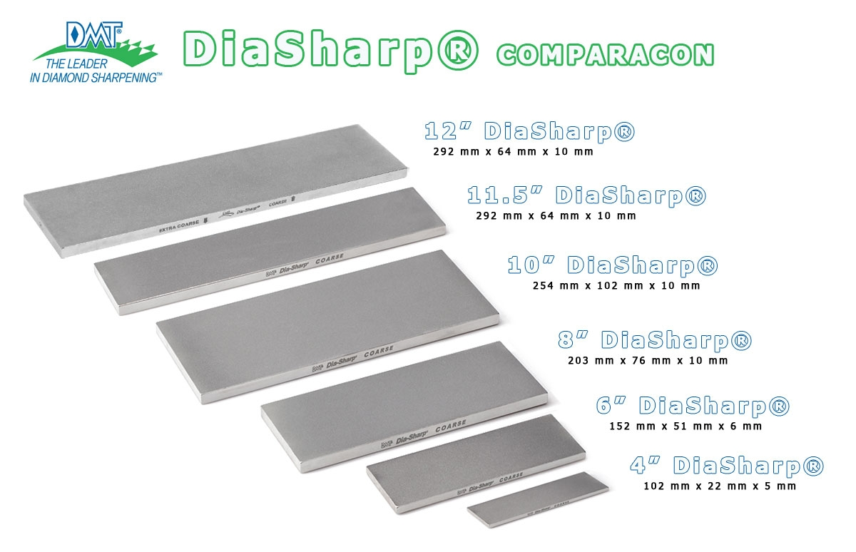 "D6C-6""x2"" Piedra de afilar grano 325 diamante DMT DiaSharp D6C-max-2."