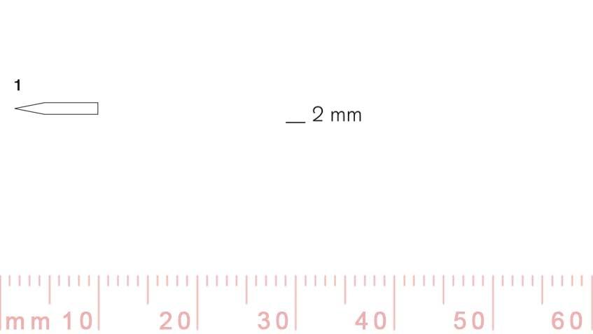 1/2-1/2, Pfeil, Gubia Recta corte 1, 2mm, doble bisel, plana-max-1.
