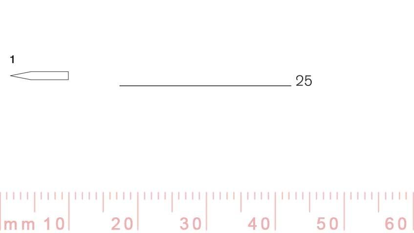 1/25-1/25, Pfeil, Gubia Recta corte 1, 25mm, doble bisel, plana-max-1.