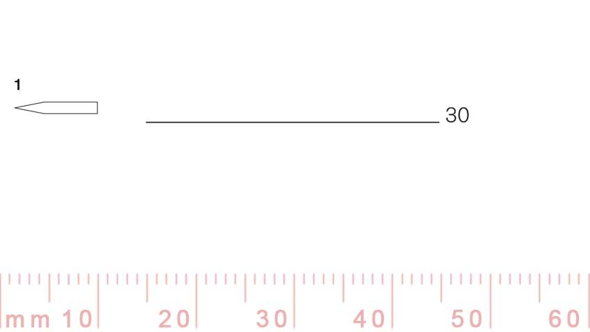 1/30-1/30, Pfeil, Gubia Recta corte 1, 30mm, doble bisel, plana-max-1.
